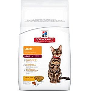 Hills Science Diet Adult Light Dry Cat Food
