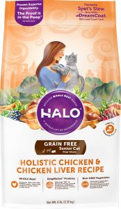 halo chicken and liver senior dry cat food