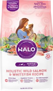 halo holistic wild salmon dry cat food