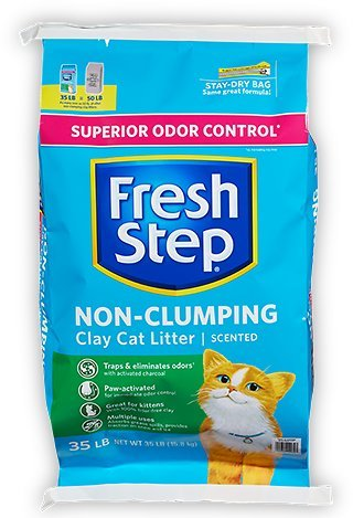 fresh step non clumping clay litter