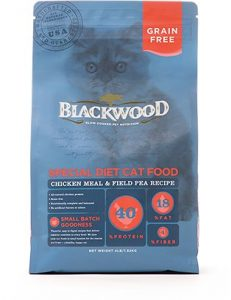 blackwood grain free dry cat food bag