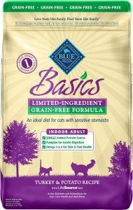 blue basics dry cat food bag