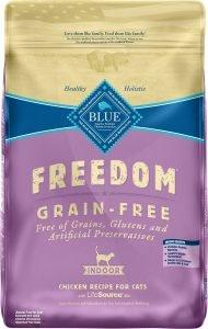 blue buffalo freedom dry cat food bag