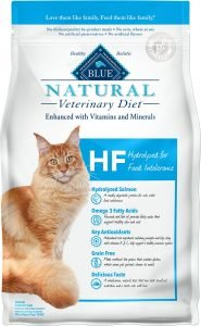 blue buffalo natural veterinary diet dry cat food bag