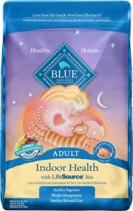 blue for cats dry cat food bag