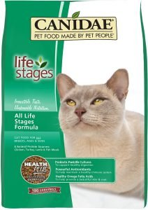 canidae life stages dry cat food bag