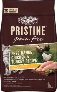 castor pollux pristine dry cat food bag