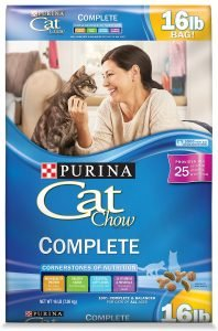 purina cat chow dry cat food bag