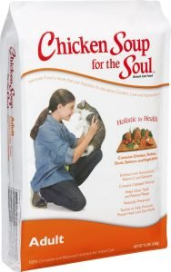 chicken soup dry cat food bag