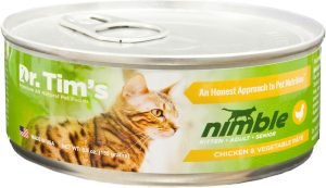 dr tims nimble wet cat food can