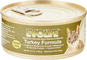 evolve wet cat food can
