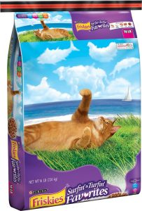 friskies dry cat food bag