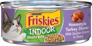 friskies wet cat food can