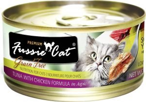fussie cat premium wet cat food can