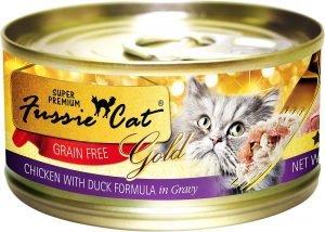 fussie cat super premium wet cat food can