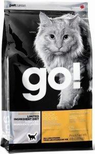 go sensitivity and shine dry cat food bag