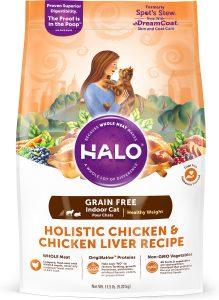 halo holistic dry cat food bag