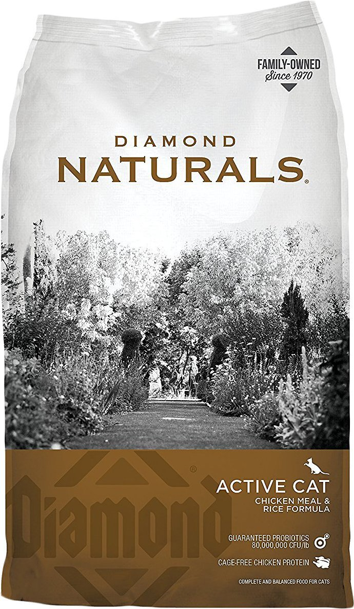 diamond naturals active cheap dry cat food