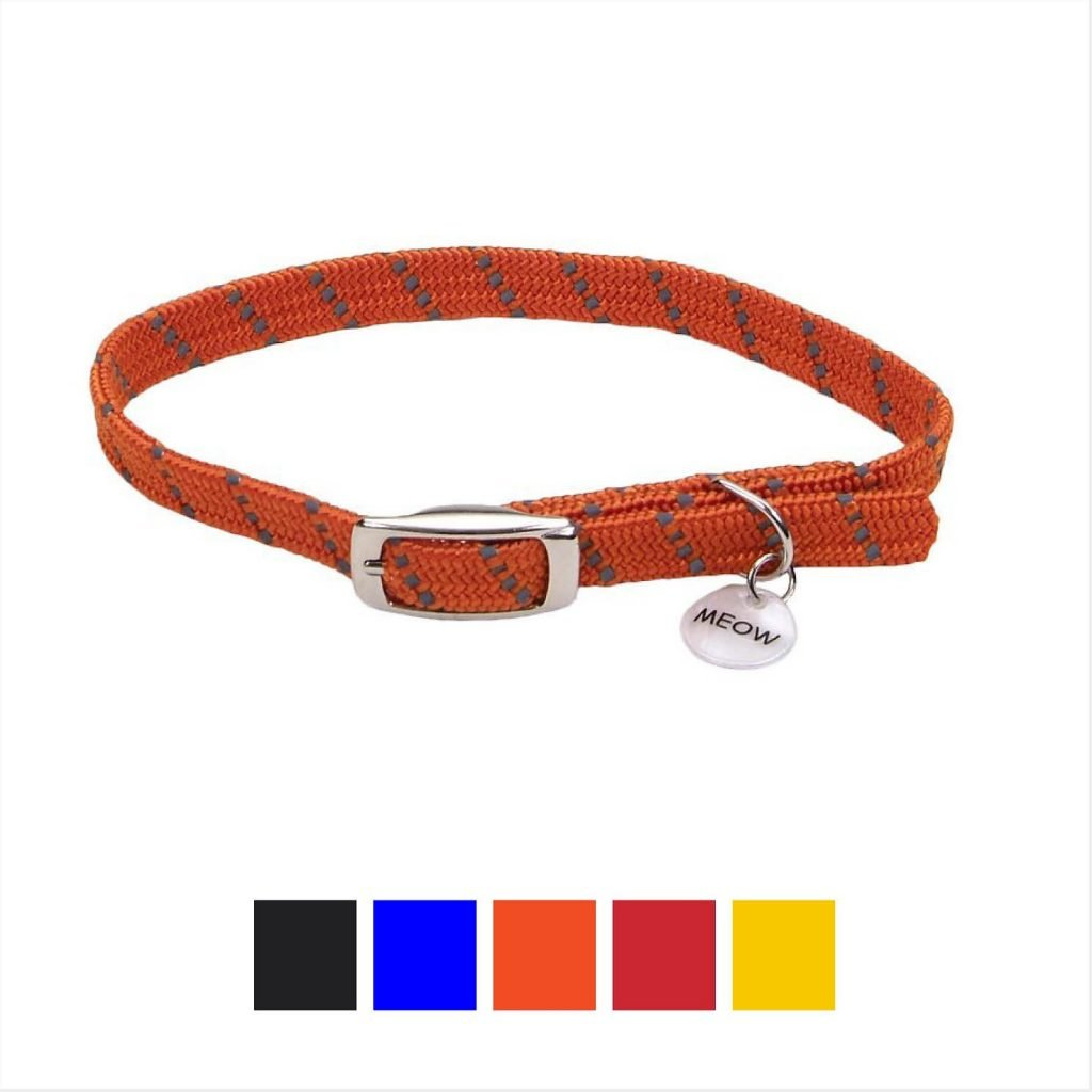 elastacat reflective safety stretch cat collar
