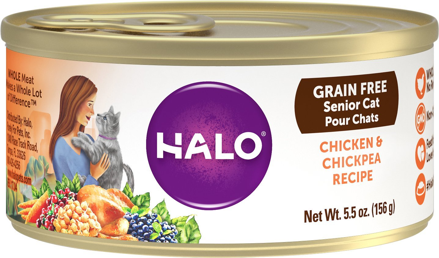 halo grain free cat food for older cats