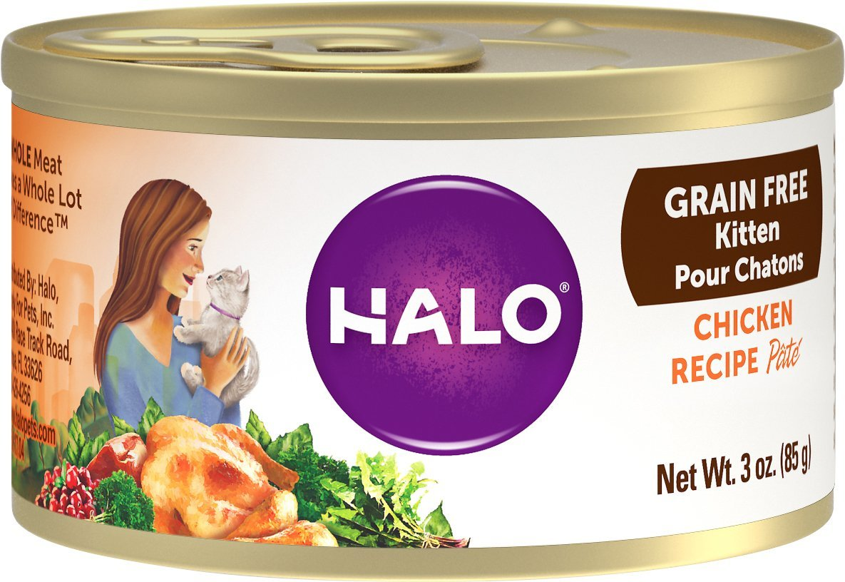 halo grain free kitten food
