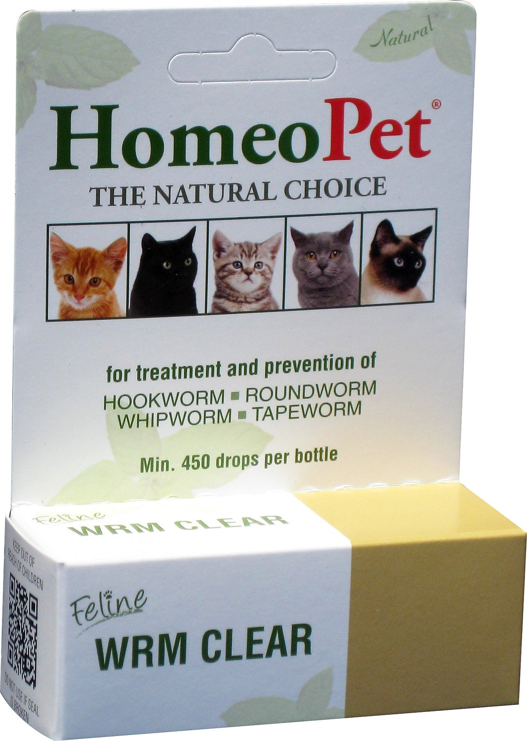 homeopet feline wrm clear natural dewormer