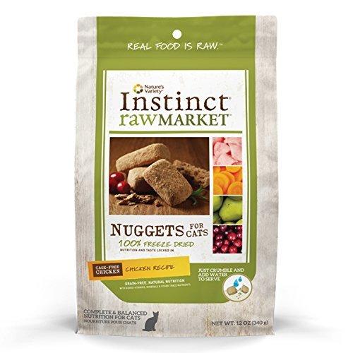 instinct raw market freeze dried high fiber cat food