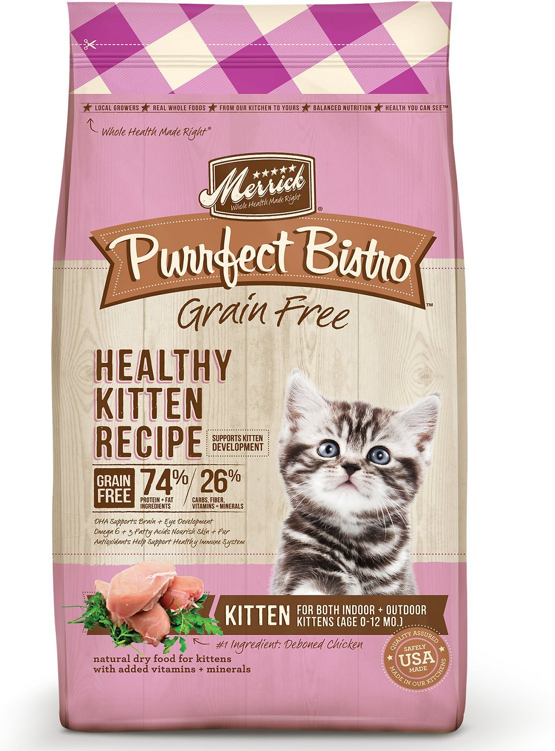 merrick purrect bistro healthy kitten dry food