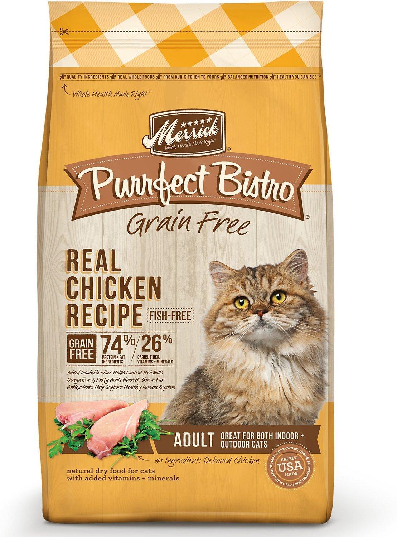 merrick purrfect bistro high fiber dry cat food
