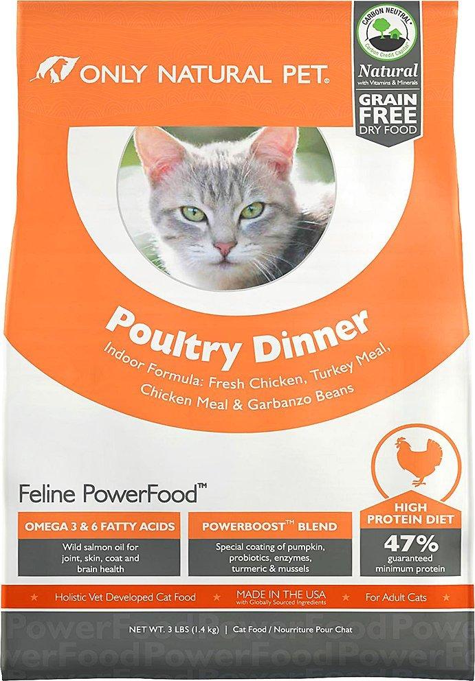 only natural pet grain free high fiber dry cat food