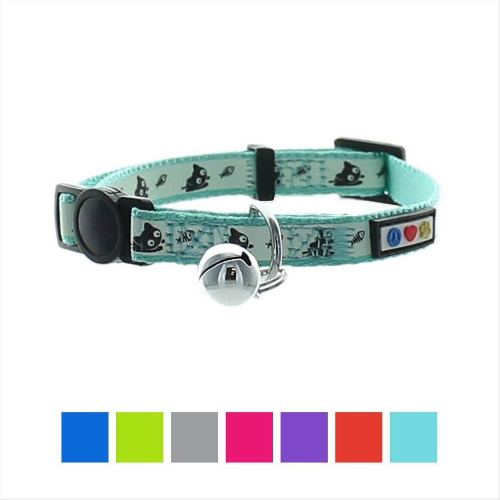pawtitas glow in the dark cat collar