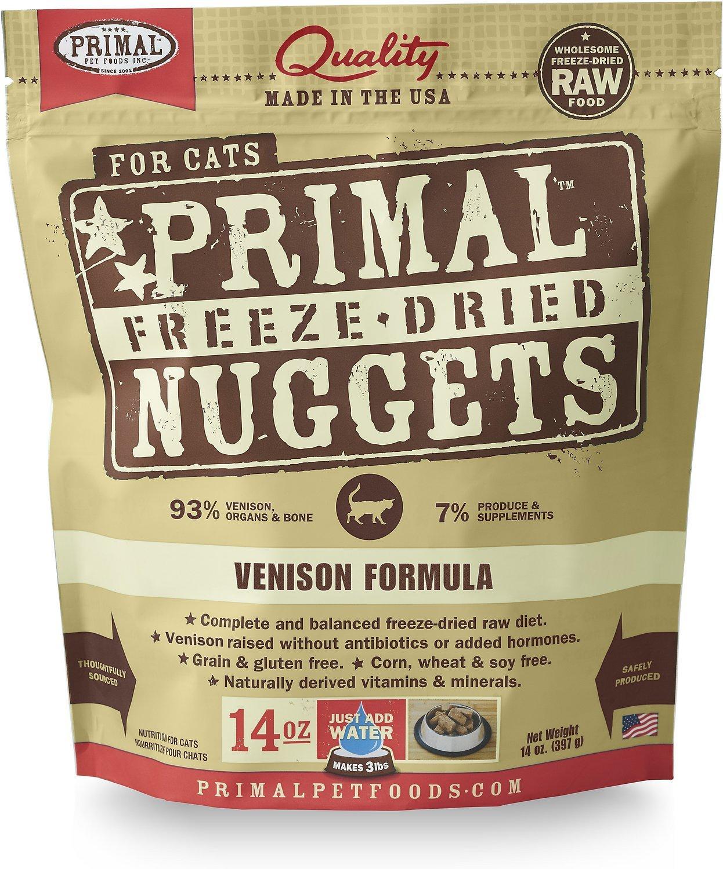 primal nuggets venison high fiber cat food