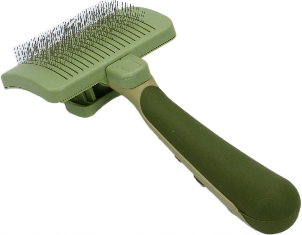 safari self cleaning slicker brush for cats