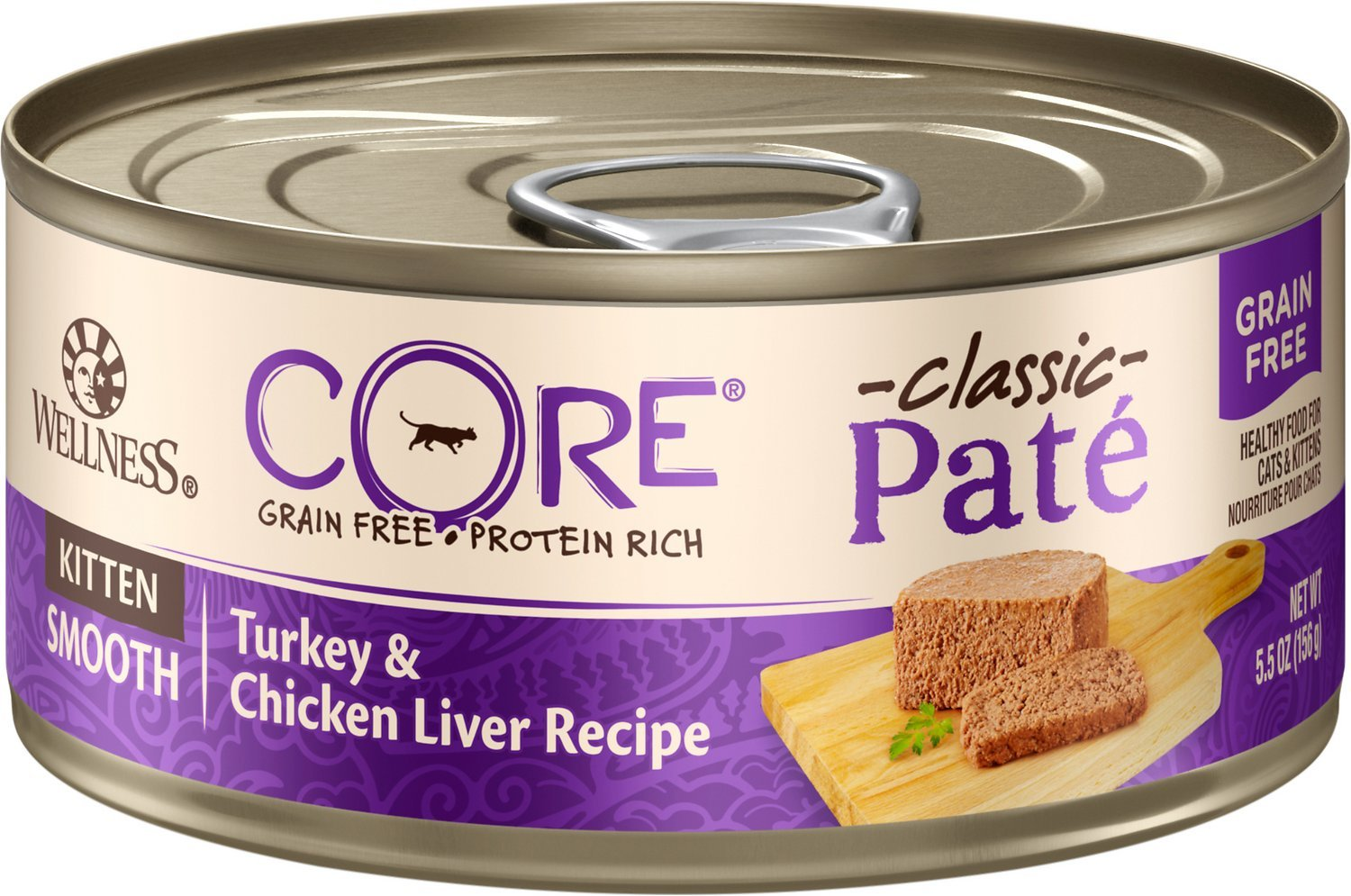 wellness core pate grain free kitten food