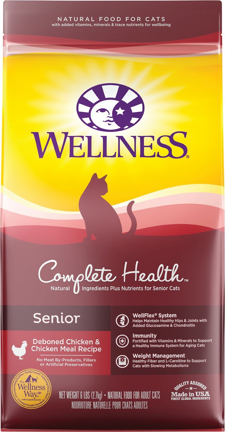 wellness senior dry cat food