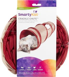 smartykat crackle chute collapsible tunnel cat toy