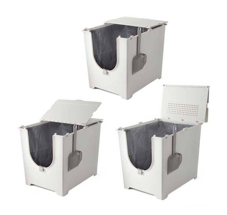 three modkat flip litter boxes