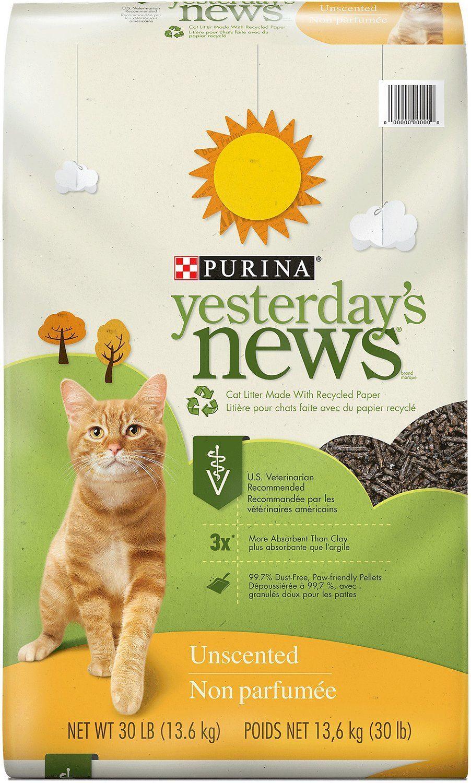 purina yesterdays news natural cat litter review